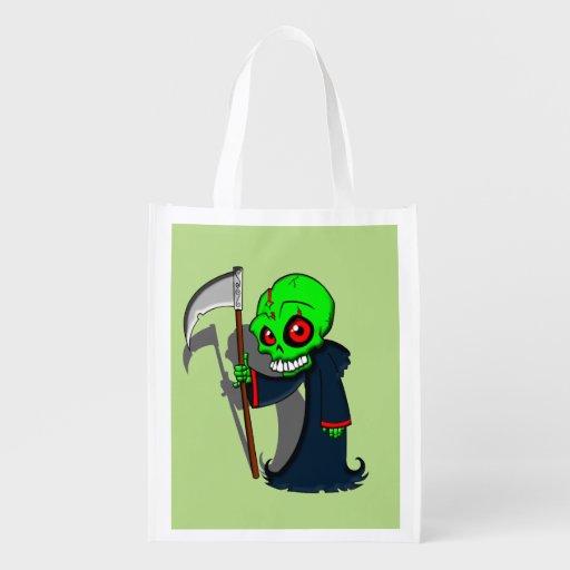 Smiling Grim Reaper Illustration Creepy Cool Reusable