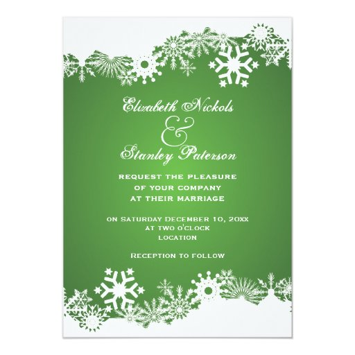 10,000+ Green And White Wedding Invitations, Green And