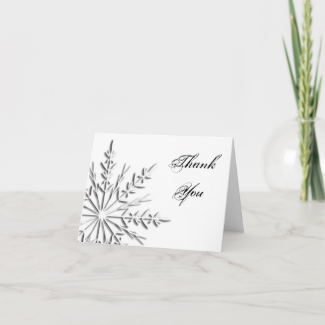 Snowflake Thank You Note Card