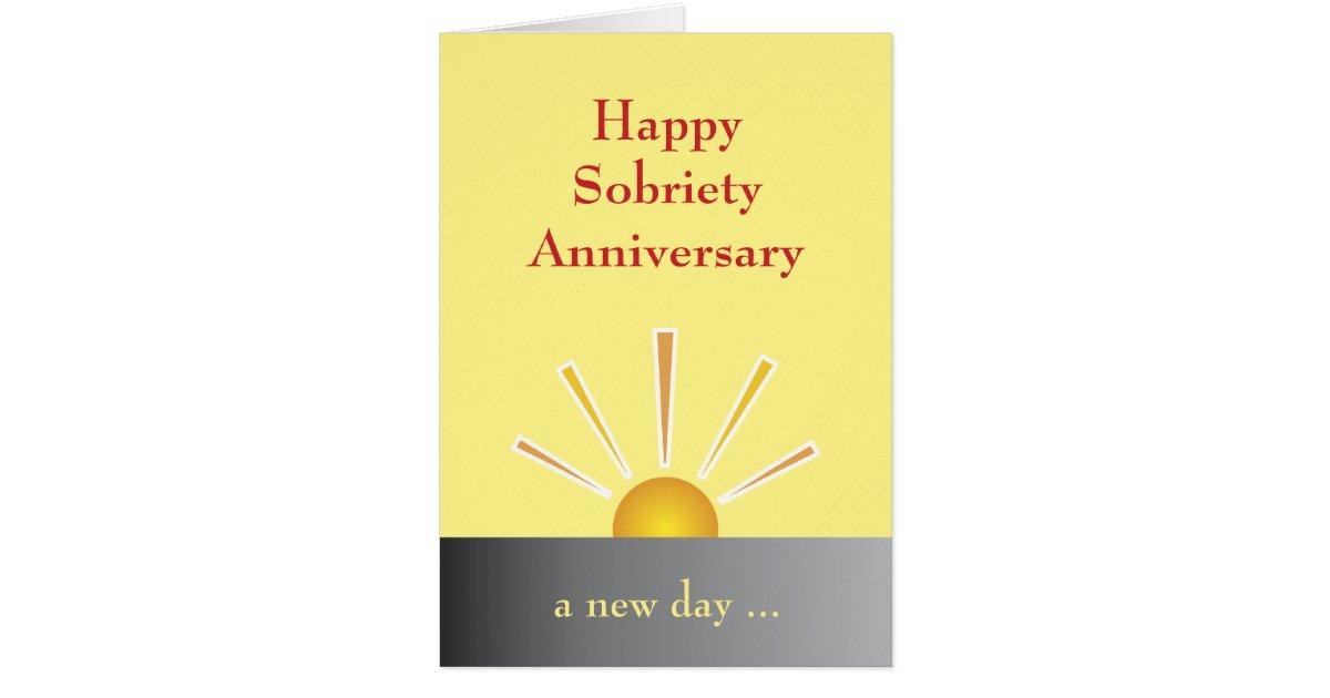 Sobriety Anniversary Card