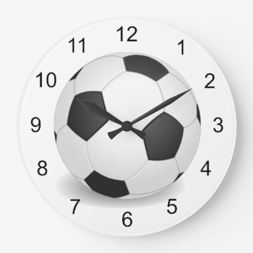 Soccer Ball Design Wall Clock Zazzle