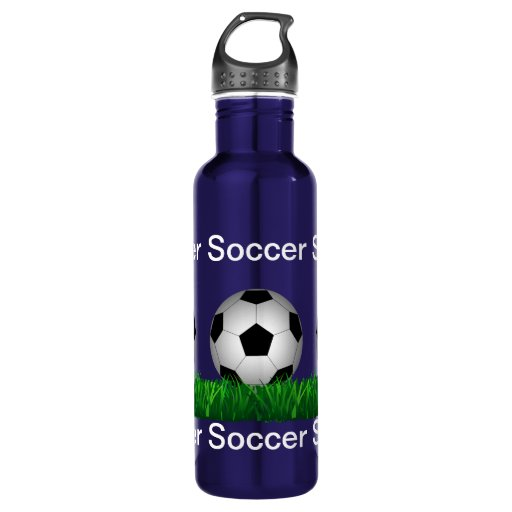 Soccer Ball Stainless Steel Water Bottle Zazzle