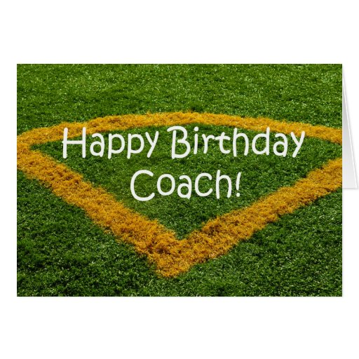 Soccer Futbol Coach Happy Birthday Goal Score Pena Card