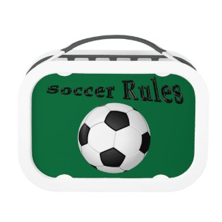 Soccer Lunch Boxes for Kids with NAME and NUMBER Yubo Lunchbox