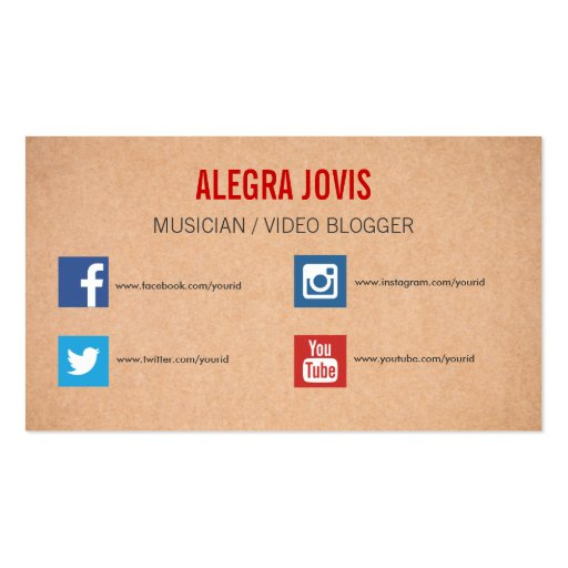 Social Media Musician You Business Card