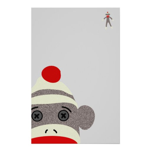 sock monkey face template - sock monkey face custom stationery zazzle