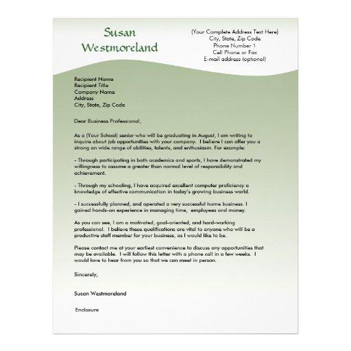 Custom cover letter