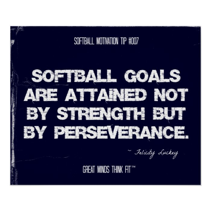 Softball Motivation 007 Print On Popscreen