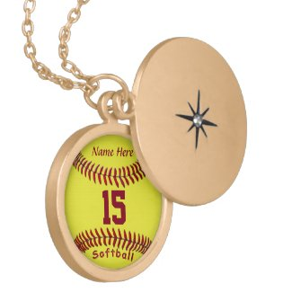 Softball Necklaces with NUMBERS and NAME