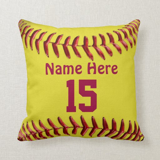 Softball pillows for girls softball room themes zazzle - Stuff for girls rooms ...