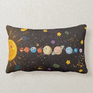 Solar System Funny Planets Pillow