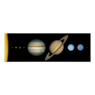 solar system to scale poster - photo #30