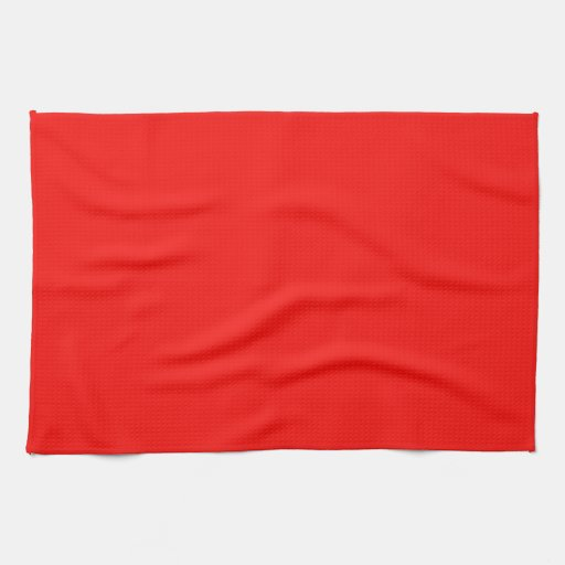 Red Kitchen Towels: Solid Bright Cherry Red Kitchen Towel