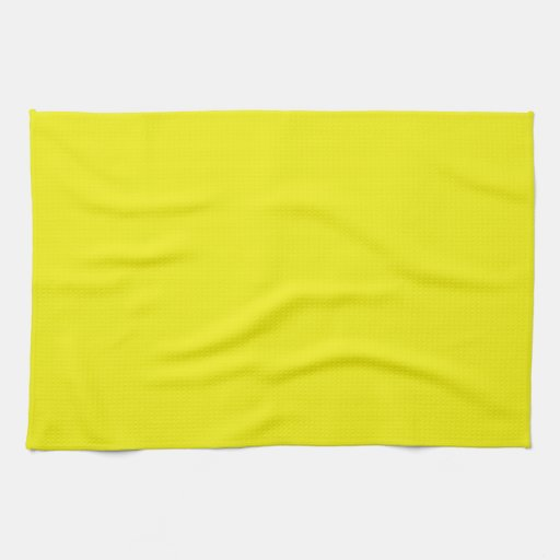 Solid Bright Yellow Kitchen Towel | Zazzle