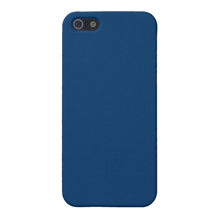 Solid Color 003366 Dark Blue Background Template iPhone 5 Case on
