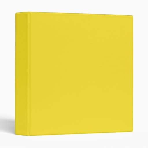 Solid Yellow 1 Inch Binder