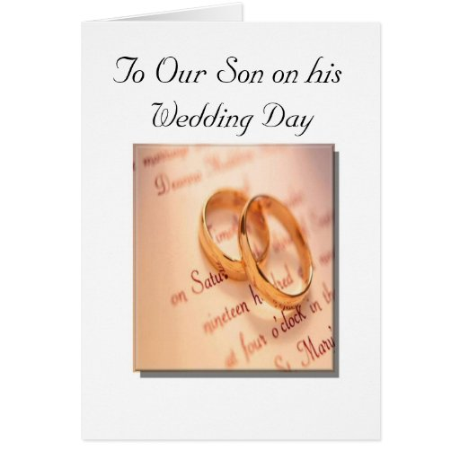 Son And Daughter S Wedding Day Card Zazzle