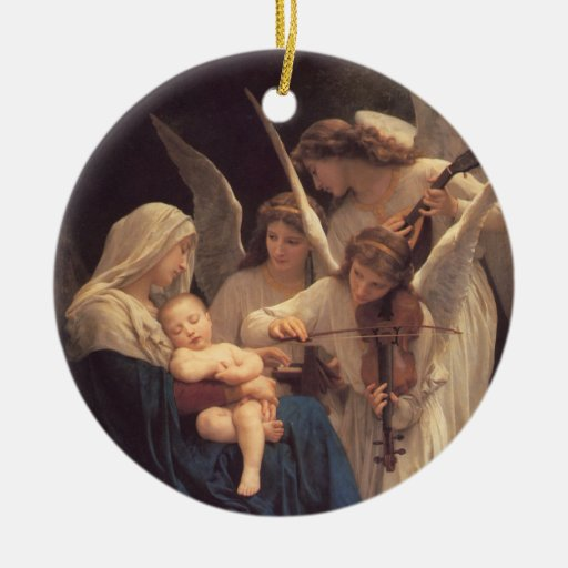 Christmas Decorations Religious: Song Of The Angels Religious Christmas Ornament