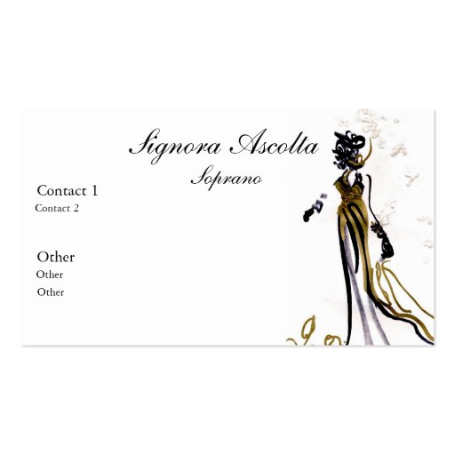 Classical Music Business Card Templates