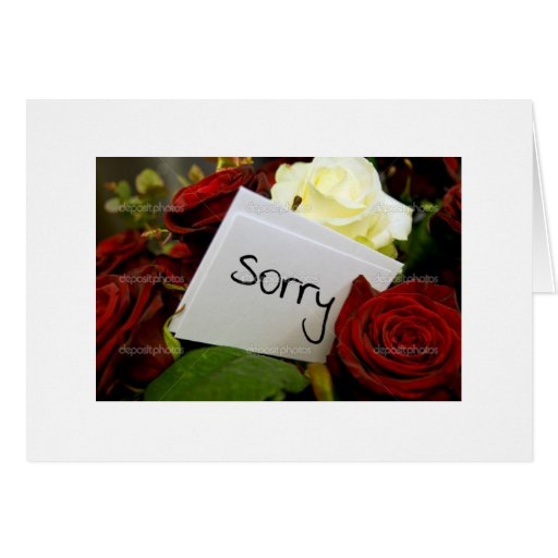 sorry to loved one's greeting cards | Zazzle