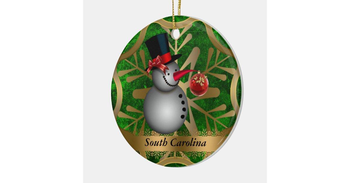 South Carolina State Christmas Ornament | Zazzle