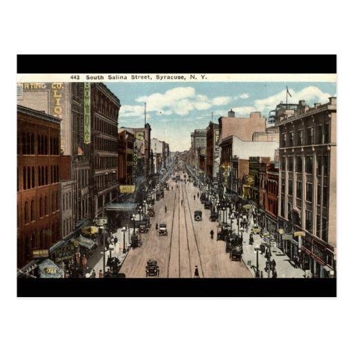 South Salina St Syracuse NY Vintage 1917 Post Card