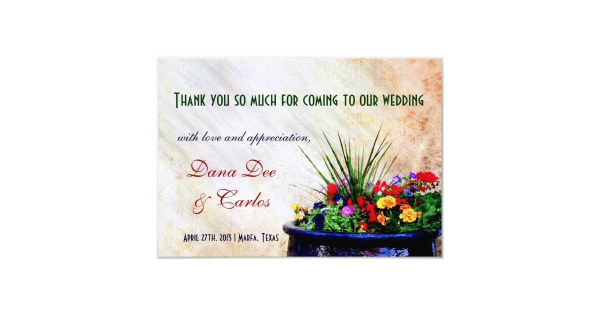 Thank You Card Wedding Gift: Southwest-inspired Wedding Gift Bag Thank You Card
