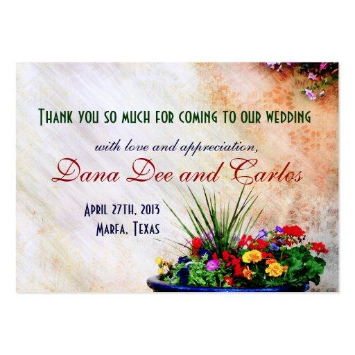 Southwest-inspired Wedding Gift Bag Thank You Card Large