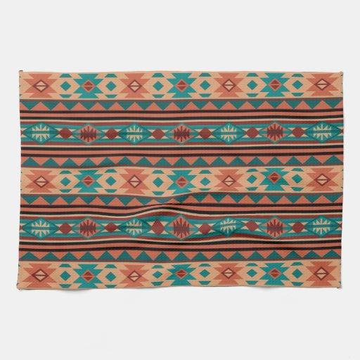 Turquoise Kitchen Towels: Southwestern Design Turquoise Terracotta Kitchen Towel