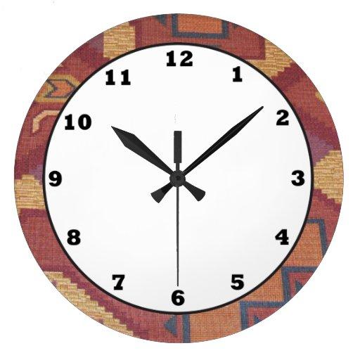 Southwestern Style Pattern Fun Wall Clock