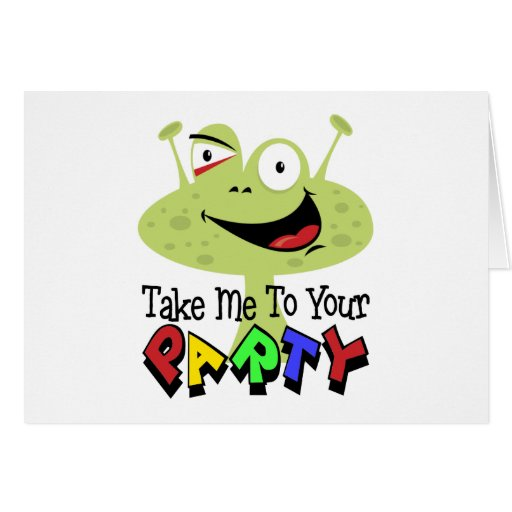 Space Alien Birthday Greeting Cards