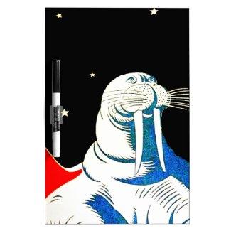 Space Astronaut Walrus Dry-Erase Board