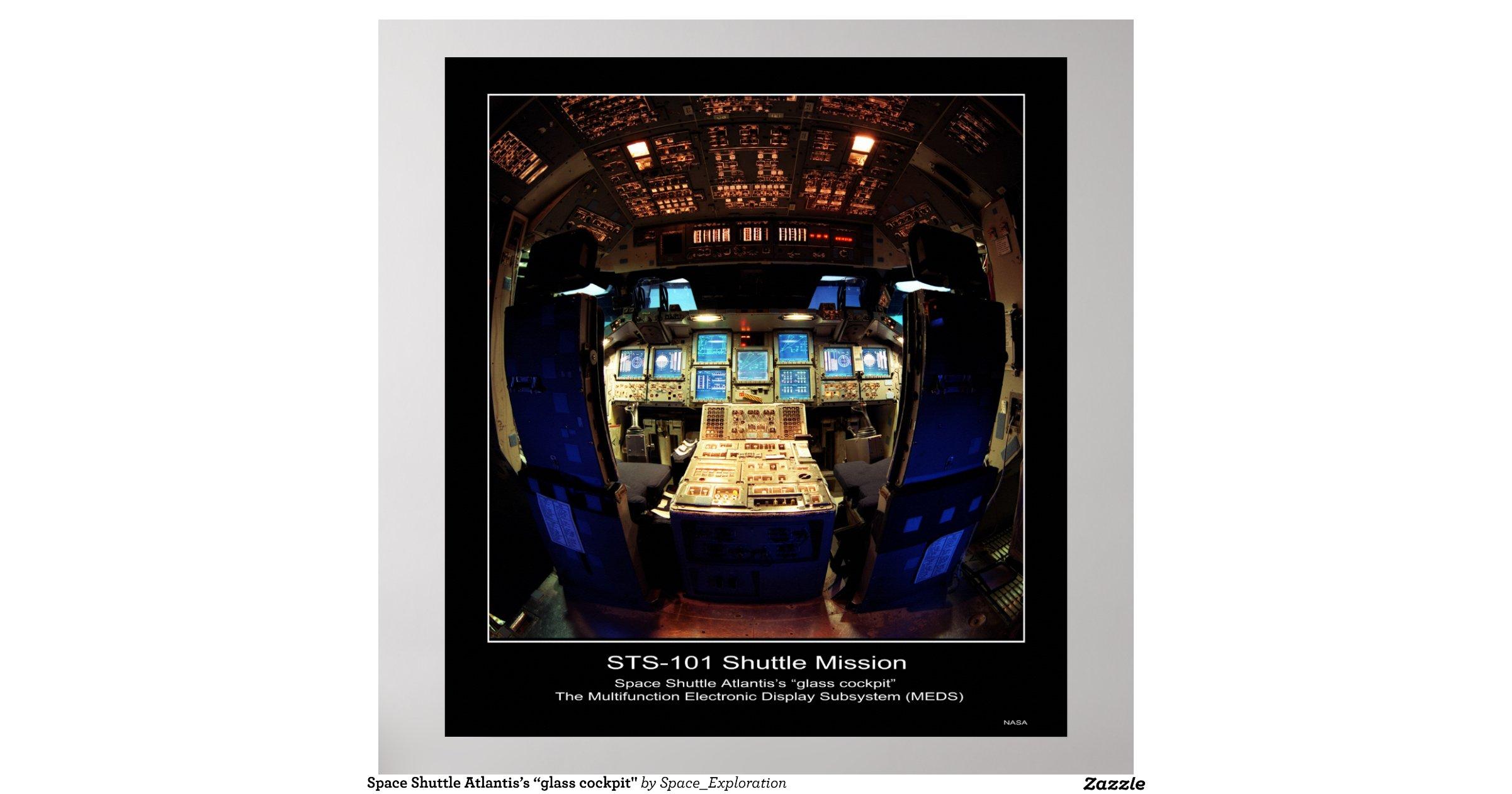space shuttle cockpit poster - photo #9
