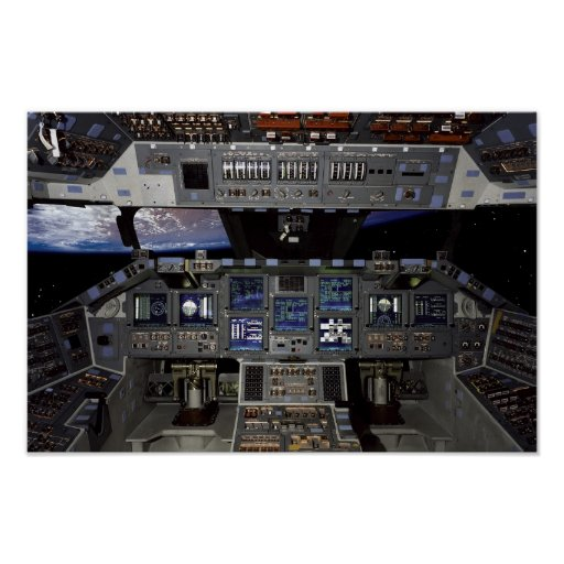 space shuttle cockpit poster - photo #4
