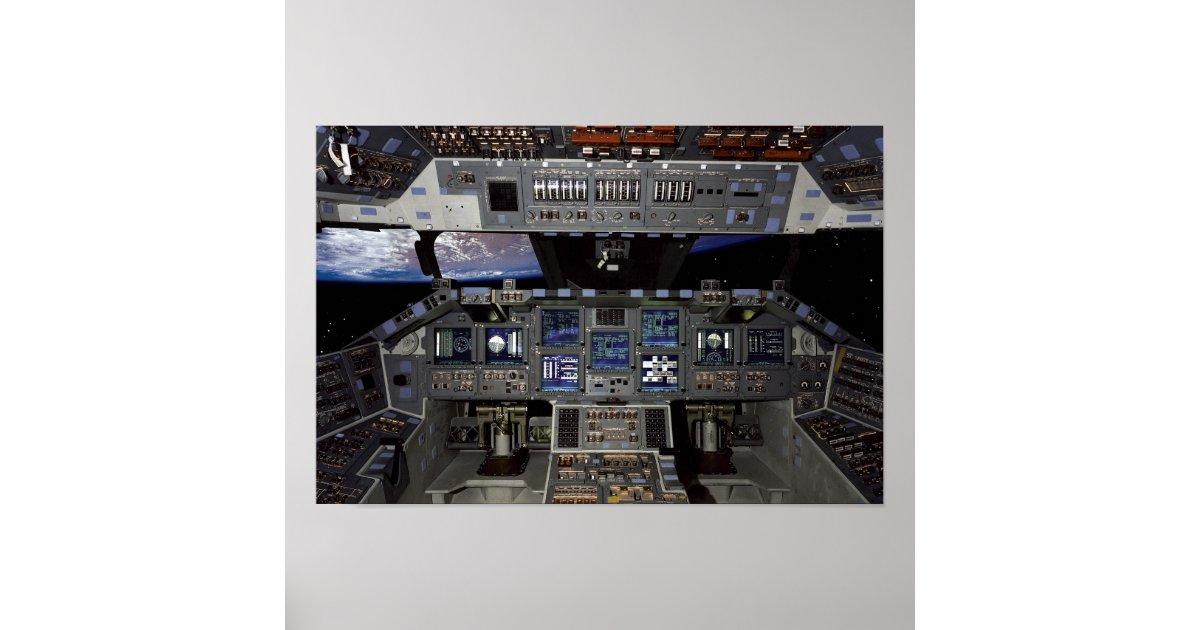 Space Shuttle Cockpit Poster | Zazzle