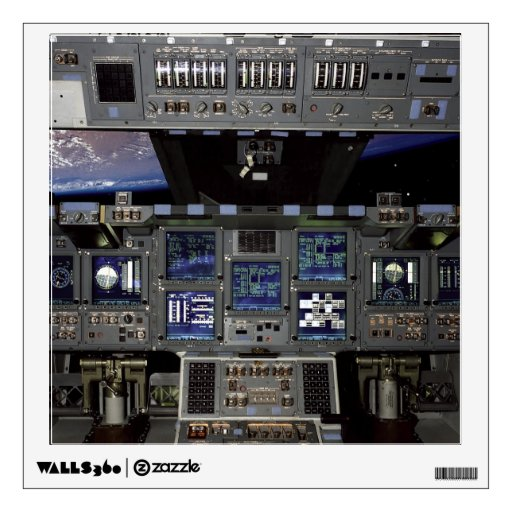Space Shuttle Cockpit Wall Decal | Zazzle