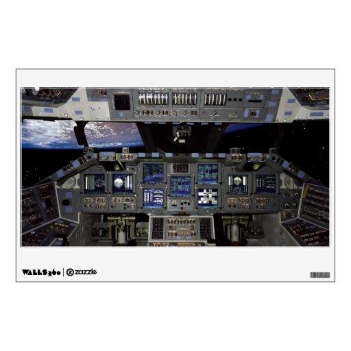 Space Shuttle Cockpit Wall Graphic | Zazzle