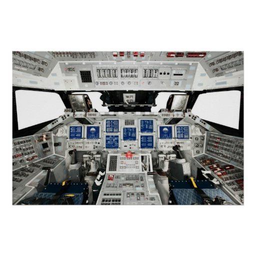 Space Shuttle Discovery OV-103 Cockpit Poster | Zazzle