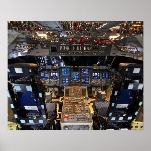 space shuttle cockpit poster - photo #1