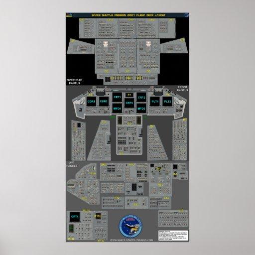 Space Shuttle Flight Deck Poster | Zazzle
