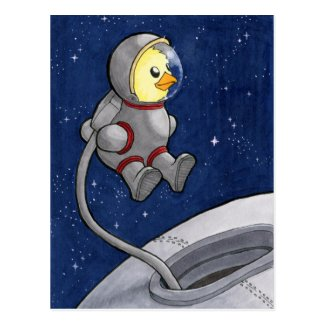 Spacewalk Chickie postcard