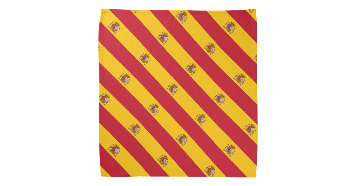 Spanish flag bandana | Spain country colors | Zazzle