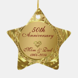 50th Wedding Anniversary Christmas Ornaments & 50th ...