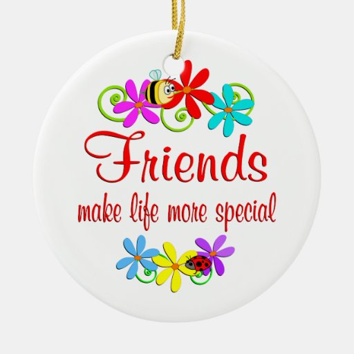 Special Friend Double-Sided Ceramic Round Christmas ...