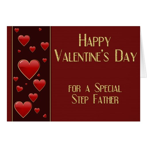 Special Step Father Masculine Valentine Card