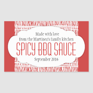 Spicy food stickers zazzle for Bbq sauce label template