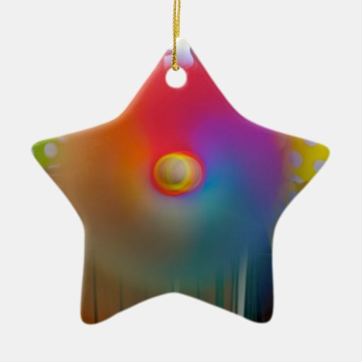 Spinner Double-Sided Star Ceramic Christmas Ornament | Zazzle