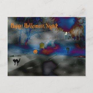 Spooky Halloween Fun Night postcard