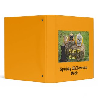 Spooky Halloween Pumpkins Binder binder