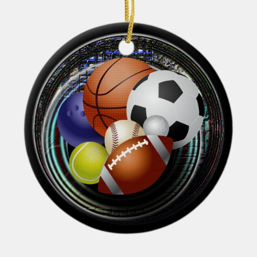 Sports lover christmas ornaments | Zazzle